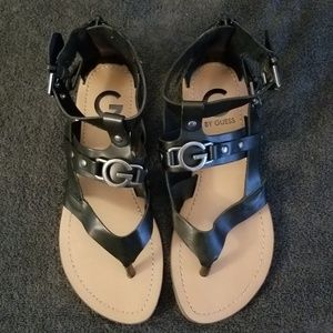 G by Guess Black Sandals Size 6.5